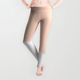 Geometric Blush Pink + White Leggings