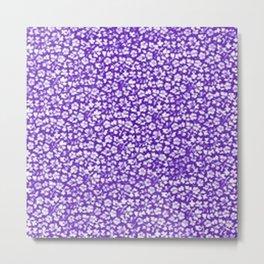 Vintage Flowers Purple Metal Print