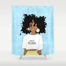 LEGALIZE MELANIN (M) Shower Curtain