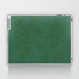 Floral Ink - Emerald & Olive Ranunculus Laptop & iPad Skin