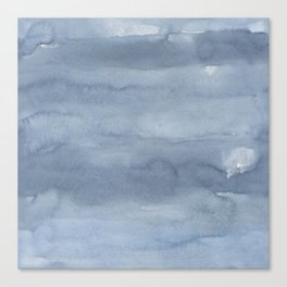 Pastel blue gray white watercolor hand painted ombre Canvas Print