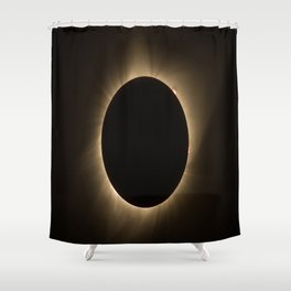 Flares - Total Solar Eclipse with Subdued Corona and Sun Bursts Shower Curtain