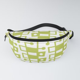 Mid Century Modern Abstract 213 Chartreuse Fanny Pack