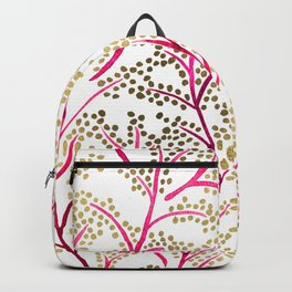 Pink & Gold Branches Backpack