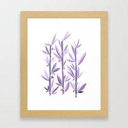 Purple Bamboo / Watercolor Botanical Framed Art Print