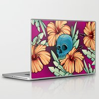 hibiscus Laptop & iPad Skins featuring Hibiscus by kellyhalloran