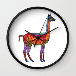 Psychedelic Vicuna Wall Clock