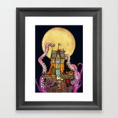 The Midnight Chateau Framed Art Print