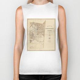 Vintage Map of Santa Fe County NM (1883) Biker Tank
