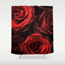 faded roses Shower Curtain