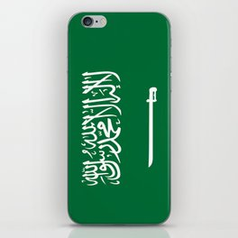National flag of  the Kingdom of Saudi Arabia - Authentic version to scale and color iPhone Skin