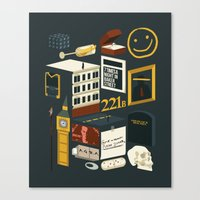 221b Canvas Prints featuring 221B by Nina Martinez