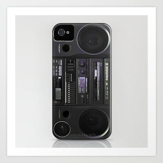 Boombox iPhone4 case (follow link below for iPhone5) Art Print