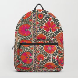 Kermina Suzani Uzbekistan Colorful Embroidery Print Backpack