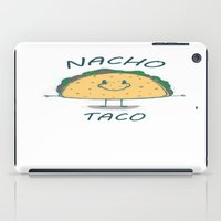 taco iPad Cases featuring Nacho Taco by Davoncornchip