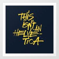 "lettering Art Prints featuring ""Helvetica"" Lettering by Sergi Ferrando"
