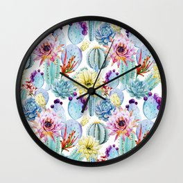 Cactus Pattern 11 Wall Clock