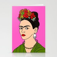 frida Stationery Cards featuring Frida by Neon Wonderland