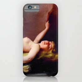 "Luis Ricardo Falero ""Reclining nude"" also known as ""The Opium Smoker"" iPhone Case"