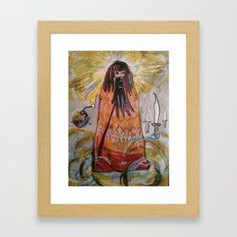 Glove/Bomb/Daggers / the 3 of Swords tarot Framed Art Print