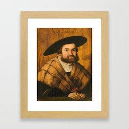 AMBERGER, CHRISTOPH 1500 - Augsburgo, 1562 The Augsburg Goldsmith Jörg Zörer Framed Art Print