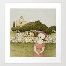 In-Nemmiesa (The Oglers) Art Print