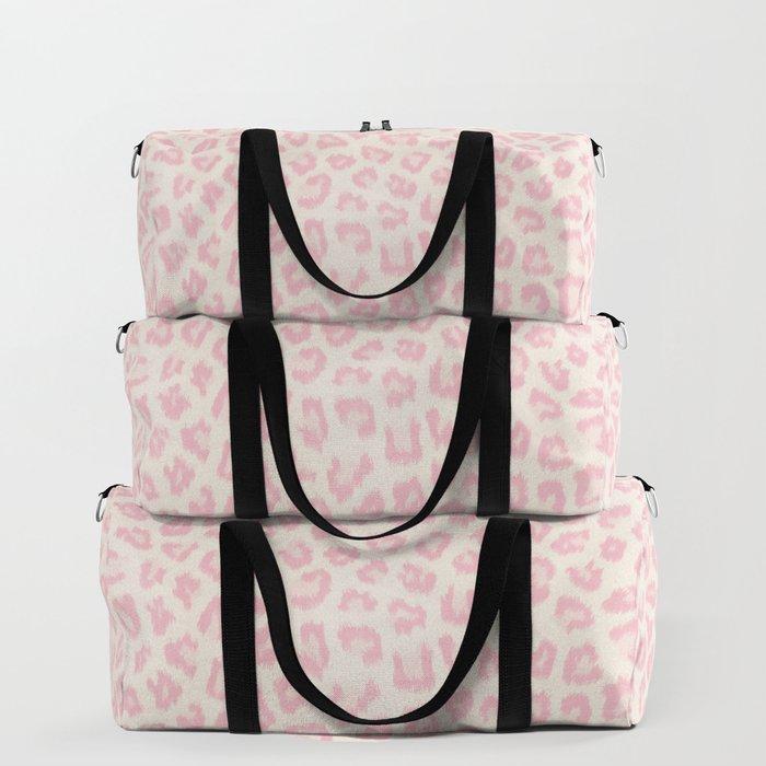 b4089690a184 Modern ivory blush pink girly cheetah animal print pattern Duffle Bag by  pink water