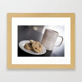 Life is short, eat cookies! Framed Art Print