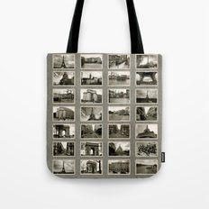 Vintage French Collage Tote Bag