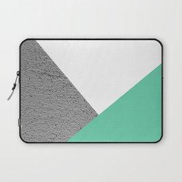Concrete vs Aquamarine Geometry Laptop Sleeve