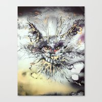 cheshire Canvas Prints featuring Cheshire  by Katerina Chivil
