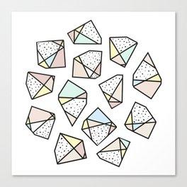 Polygonal stones and gemstones Canvas Print