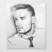 liam payne Canvas Prints featuring Liam Payne by Adele_F
