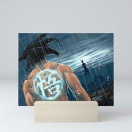 Fight under the rain Mini Art Print