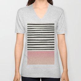 Blush x Stripes Unisex V-Neck