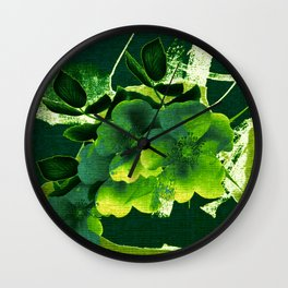 green floral Wall Clock