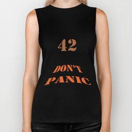 DON'T PANIC Biker Tank