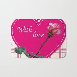rose with love Bath Mat