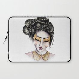 Golden Eyes // Fashion Illustration Laptop Sleeve