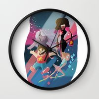 steven universe Wall Clocks featuring Steven Universe by David Pavon