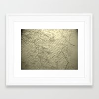 chicago map Framed Art Prints featuring Chicago Map by Eric Strand