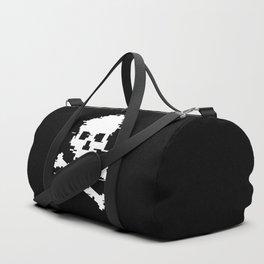 Crossbones Glitch Art Duffle Bag