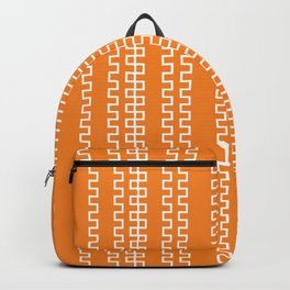 ORANGE ZIG ZAGS Backpack