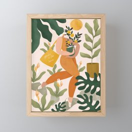 Plastic is for losers Framed Mini Art Print
