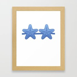 Starfish Bra Blue Funny Lazy Costume Halloween Framed Art Print