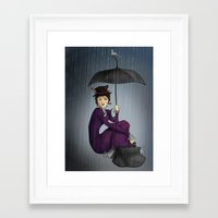 mary poppins Framed Art Prints featuring Mary Poppins by CatAstrophe