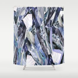 Ice Blue Crystalize Shower Curtain
