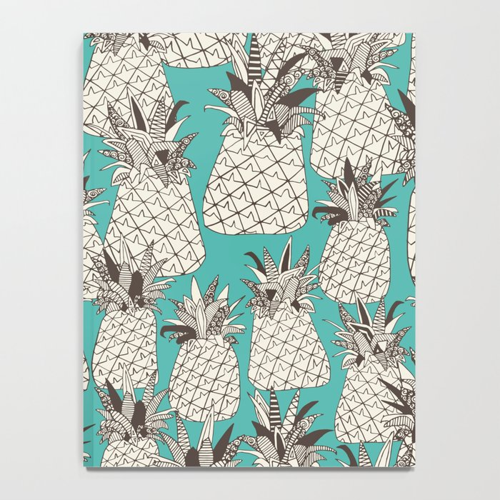 pineapple turquoise sea Notebook