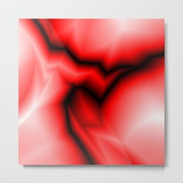 Dark lines of red lightning with a swirling gap. Metal Print