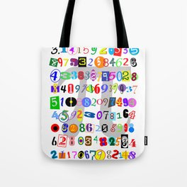 Colorful and Fun Depiction of Pi Calculated Tote Bag